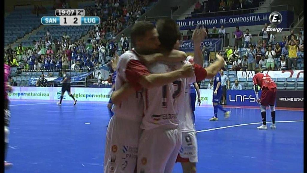 Gol de Chus (Santiago 2-2 Azkar)