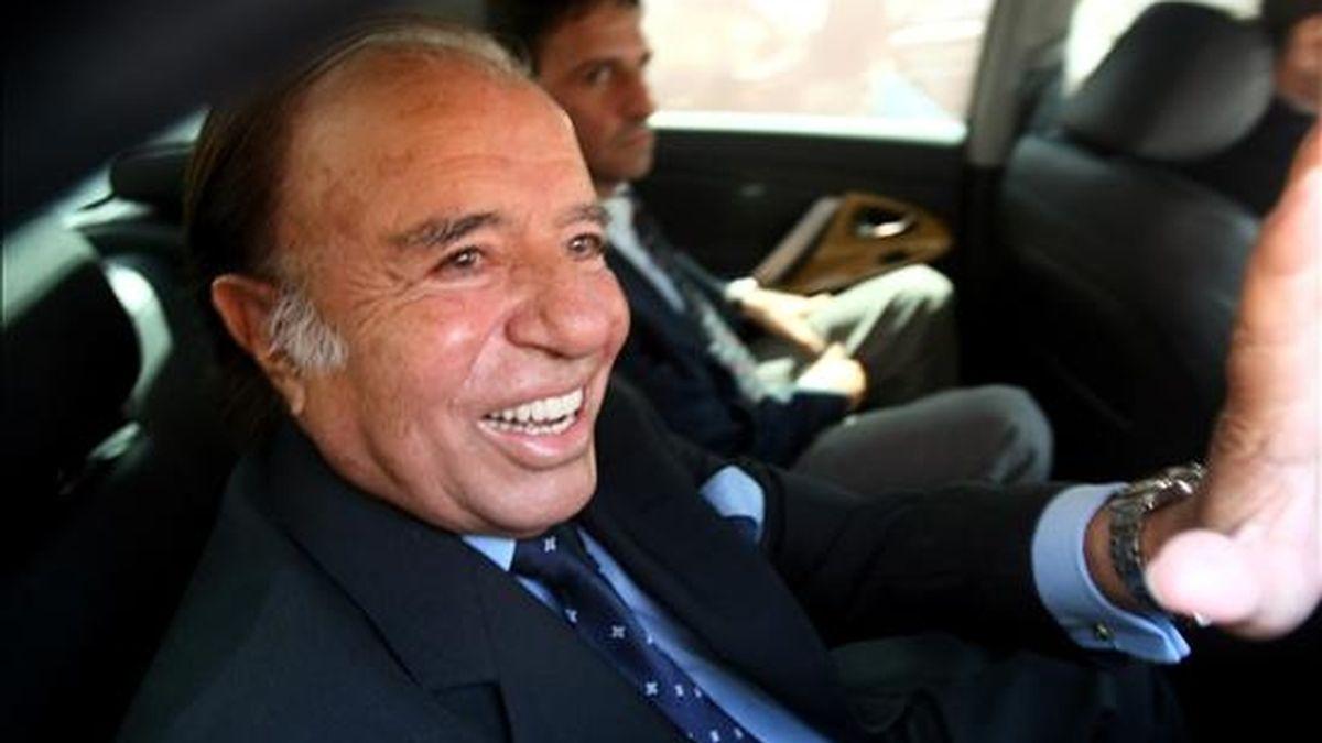 El ex mandatario, investigado en varias causas por presuntos actos de corrupción en su Gobierno, es sometido actualmente a juicio por el contrabando de armas a Ecuador y Croacia entre 1991 y 1995. EEFE/Archivo