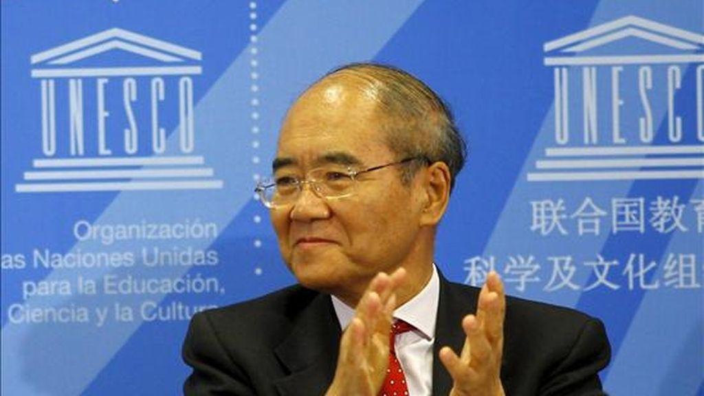 El director general de la UNESCO, Koichiro Matsuura. EFE/Archivo
