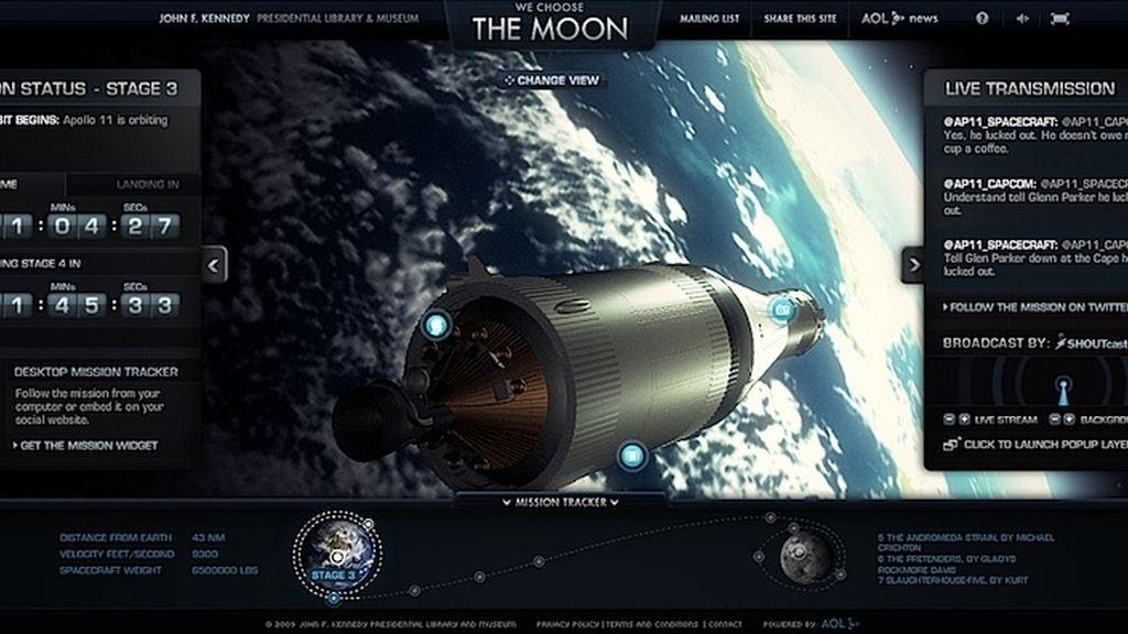 La llegada del hombre a la luna como nunca lo habías visto en 'Wechoosethemoon.com'