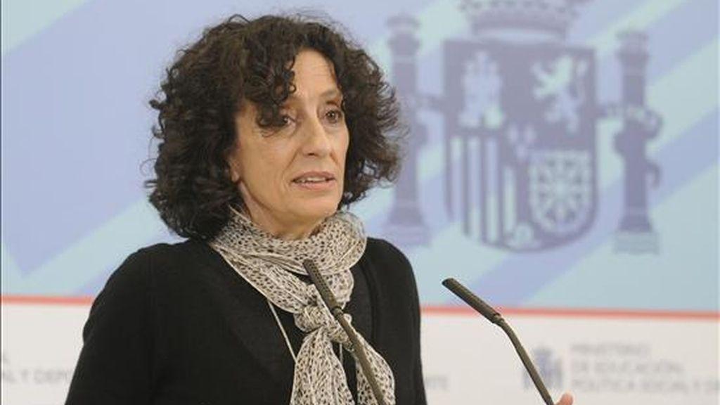 La ministra de Educación, Mercedes Cabrera. EFE/Archivo