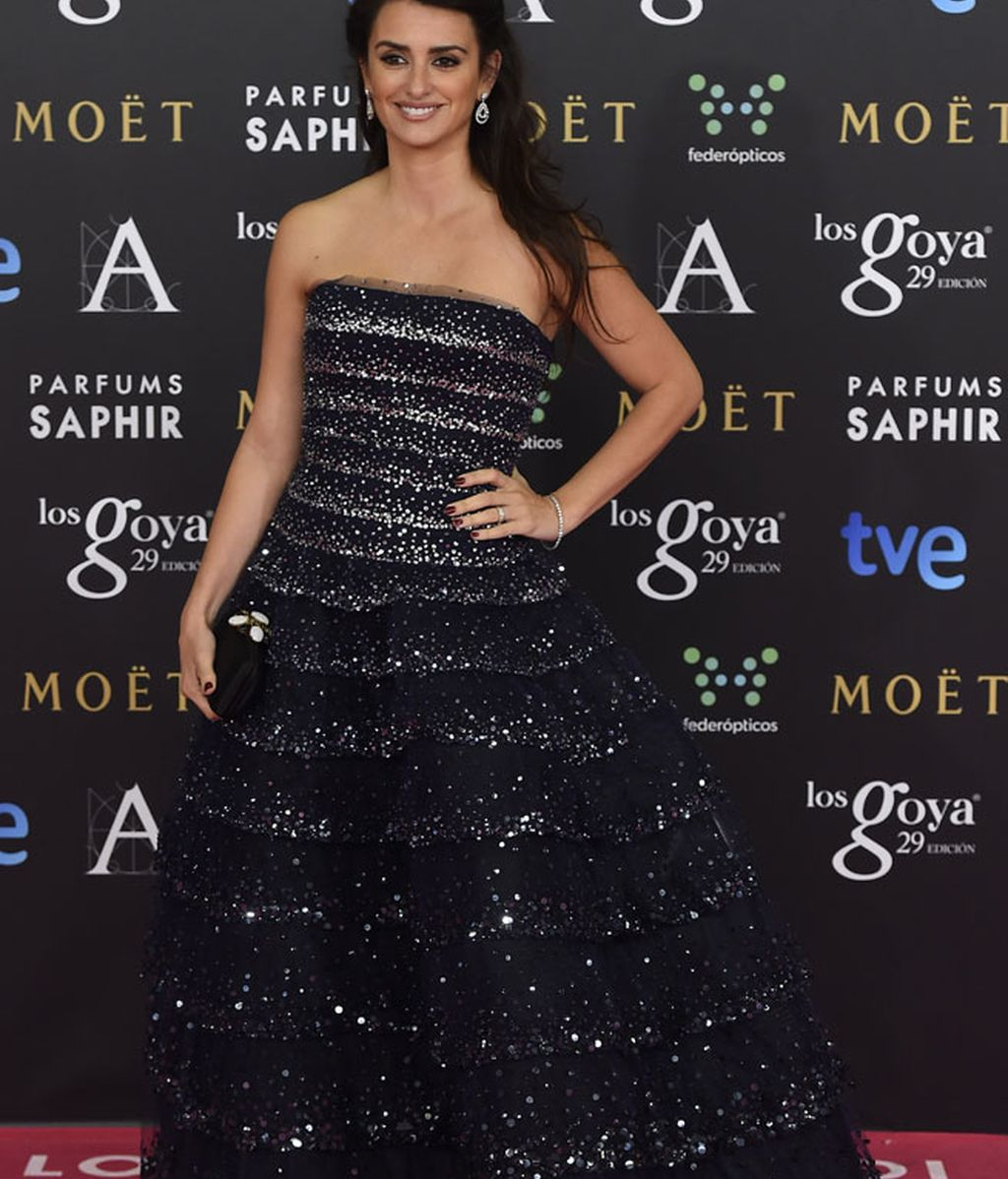 Penélope Cruz con vestido de Oscar de la Renta