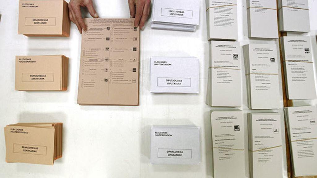 Papeletas listas para la jornada electoral