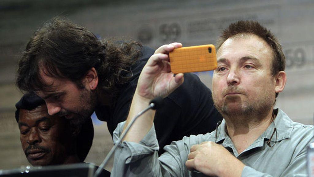 Miquel Barceló durante una rueda de prensa