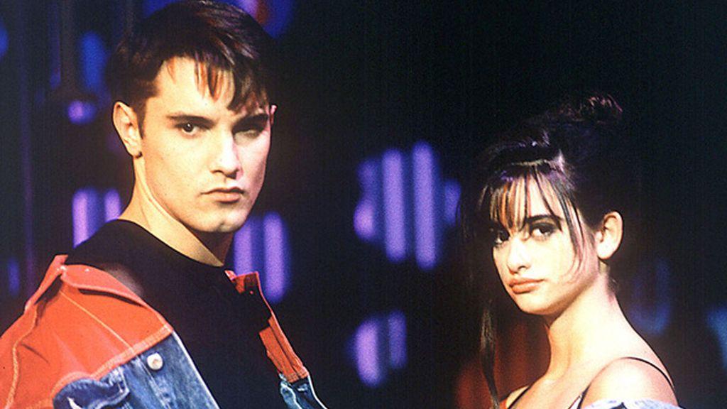 Jesús Vázquez y Penélope Cruz (1990)