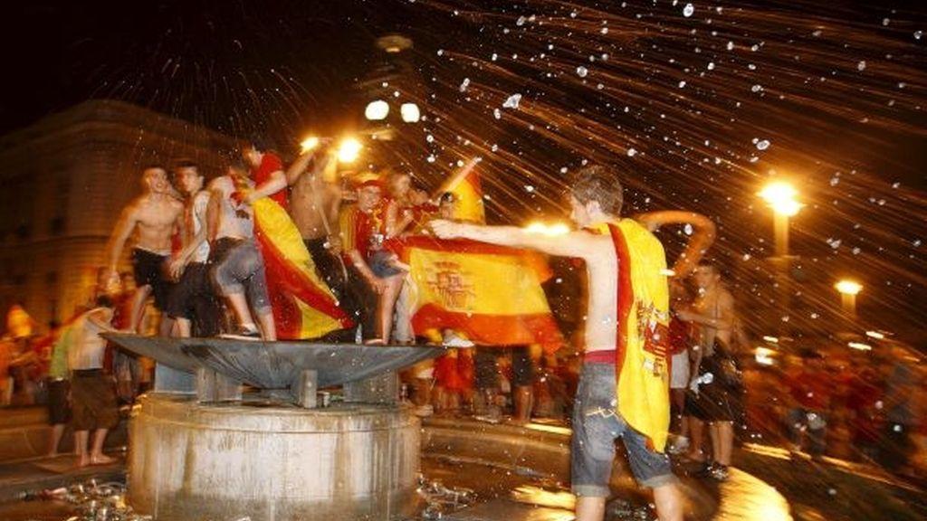 España celebra la Copa del Mundo