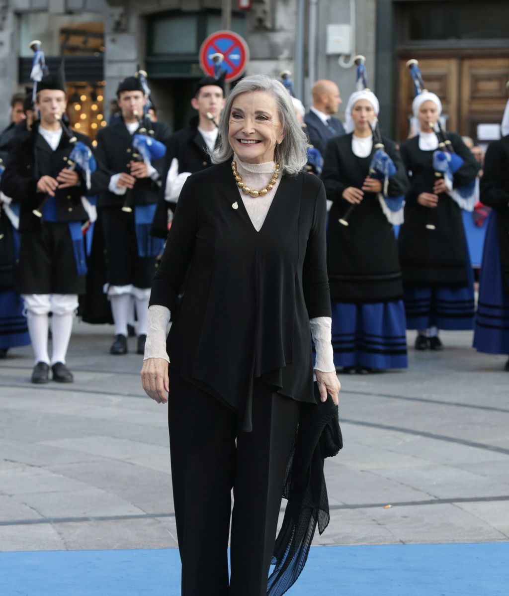 Nuria Espert, a su llegada a los Premios Princesa de Asturias