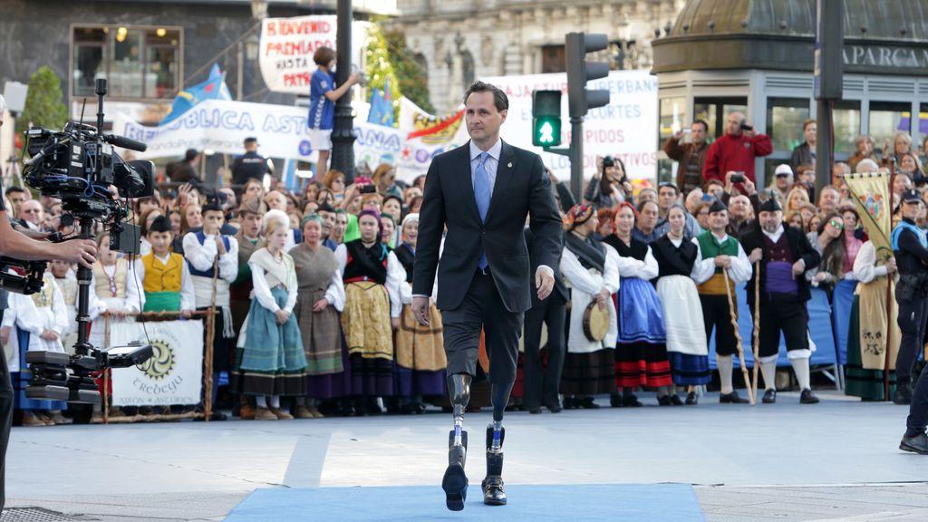 Hugh Herr, a su llegada a los Premios Princesa de Asturias