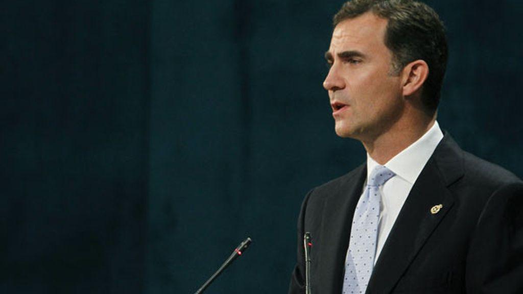 El príncipe Felipe durante el discurso