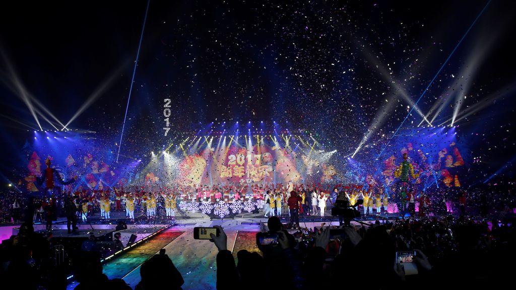 Pekín da la bienvenida al 2017