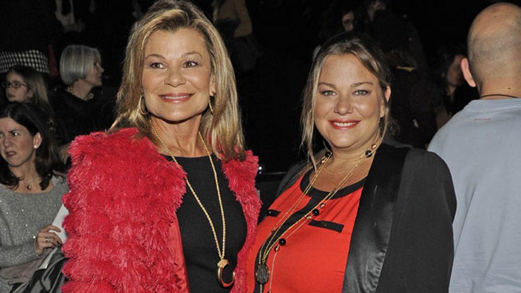 Cary Lapique y Caritina Goyanes en el desfile de Aristocrazy