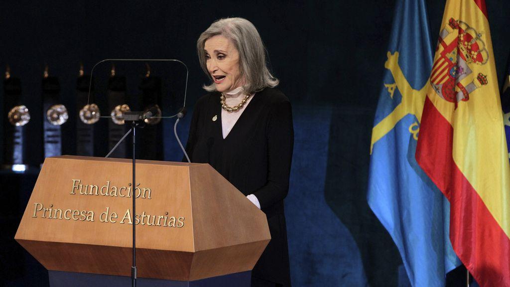 Nuria Espert, en su discurso de los Premios Princesa de Asturias