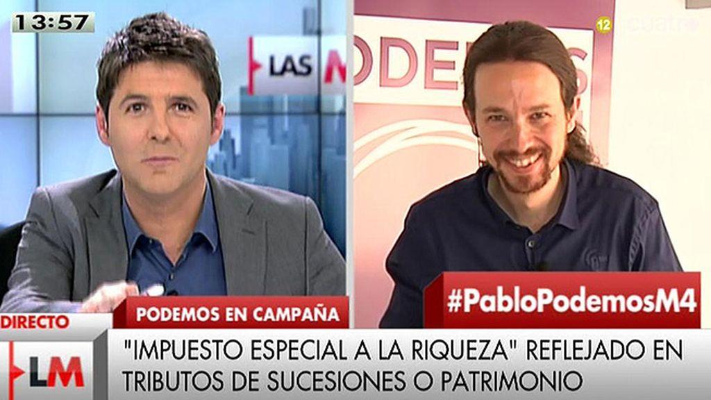 """Pablo Iglesias: """"Es mucho más difícil hacer una entrevista cuando las encuestas dicen que puedes ser presidente"""""""