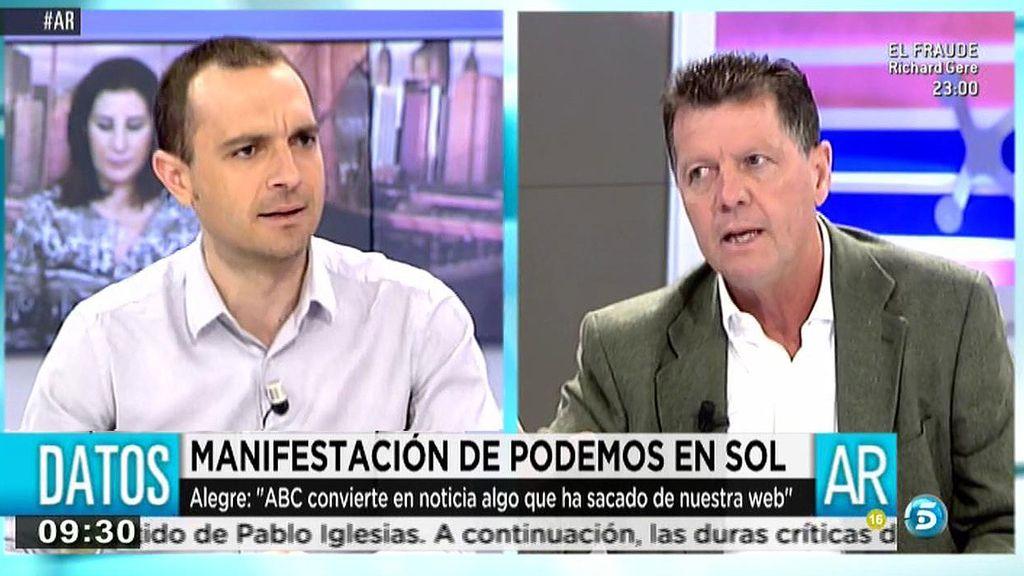 """Luis Alegre, a Alfonso Rojo: """"Eres un insulto al periodismo en este país"""""""