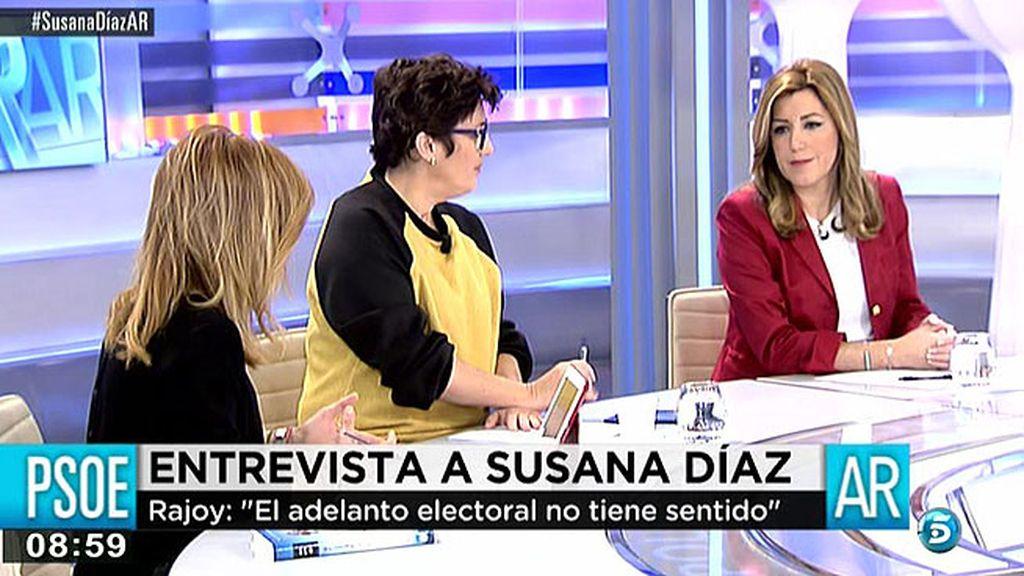 """Susana Díaz: """"Creo que mi tierra tiene que ganar un año"""""""
