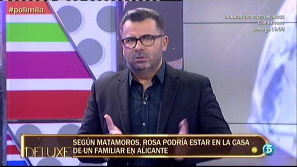 Jorge Javier pide a la familia de Rosa Benito que deje de especular