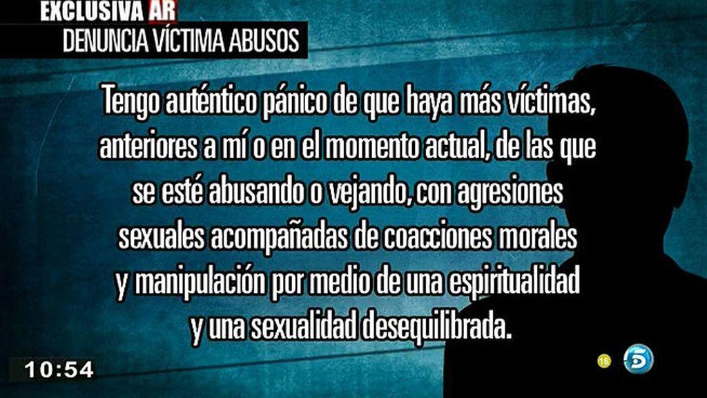 La carta de la víctima de 'Los Romanones' a la fiscalía de Granada, en exclusiva