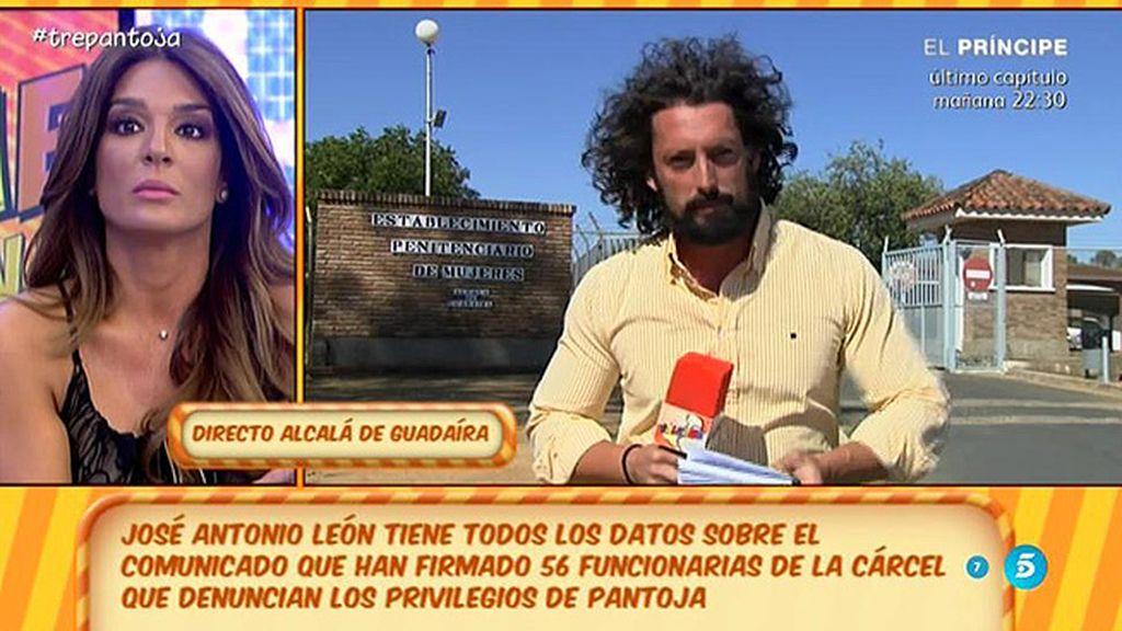 """J.A. León: """"Según las funcionarias, Pantoja podría tener un USB para conectarse"""""""