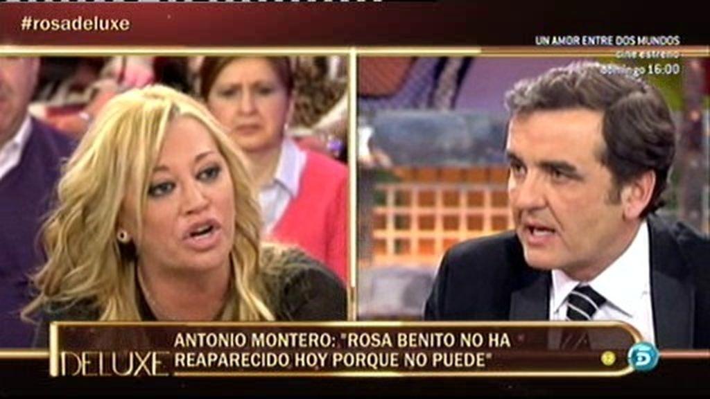 Belén Esteban pierde los papeles por una bronca con Antonio Montero