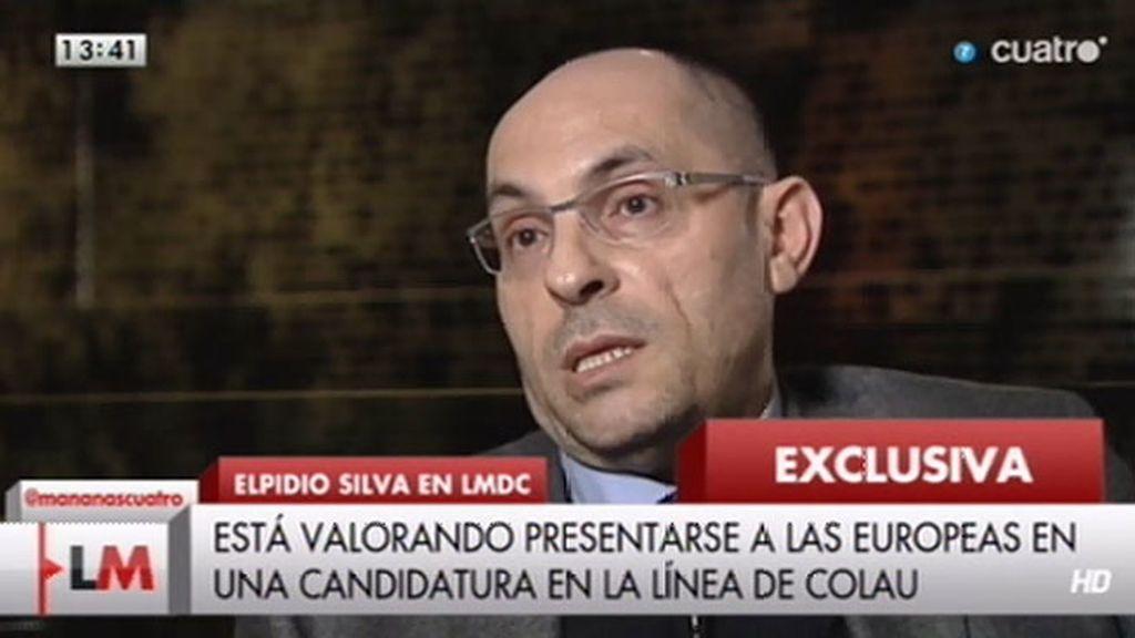 """Elpidio Silva, sobre las europeas: """"No he resuelto estar con ninguna persona"""""""