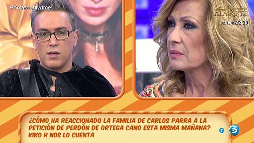 La viuda de Carlos Parra piensa que el perdón de Ortega llega tarde, según Kiko H.