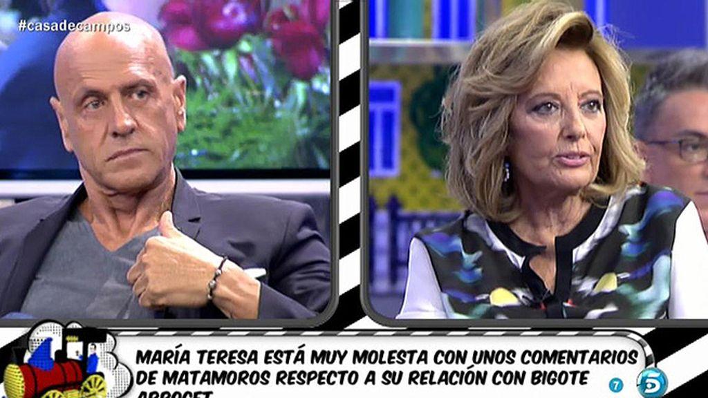 El 'pique' entre Teresa Campos y Matamoros
