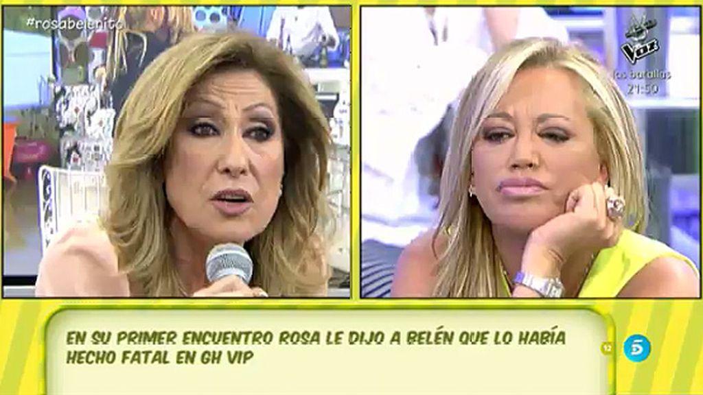 """Belén Esteban, a Rosa Benito: """"¿Tú me vas a hablar de formas? ¡Ni que fueras catedrática!"""""""