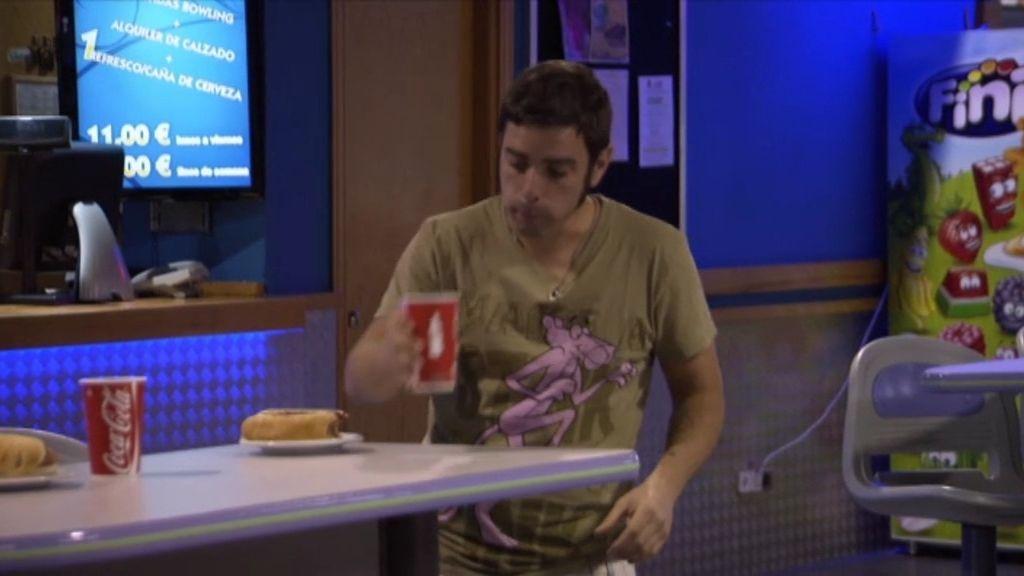 José Carlos, pillado con comida basura