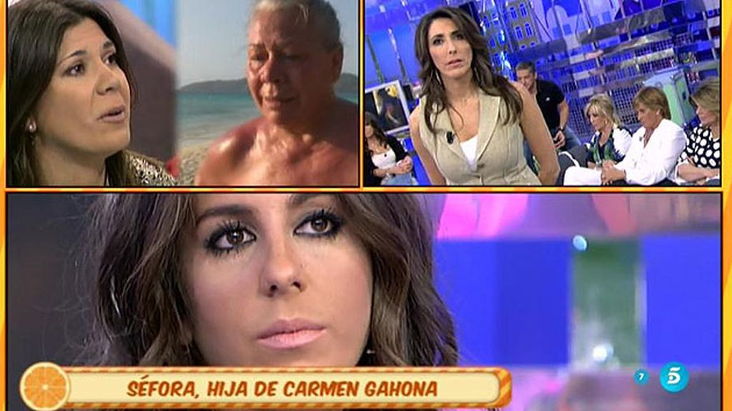 "Séfora, hija de Carmen Gahona: ""Mi madre no ha hecho daño a la familia Pantoja"""