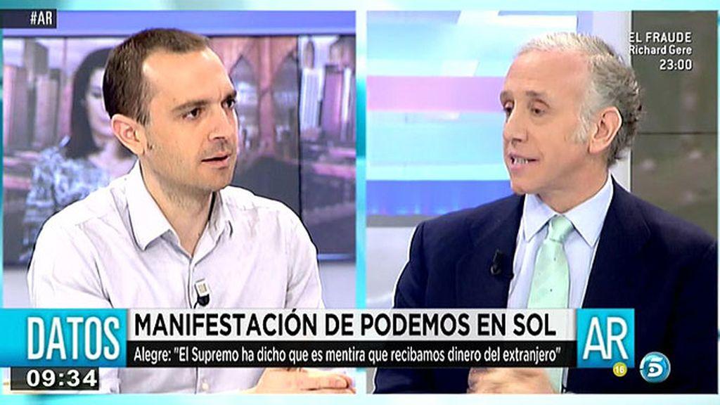 """Luis Alegre: """"Podemos no ha recibido dinero de países latinoamericanos"""""""