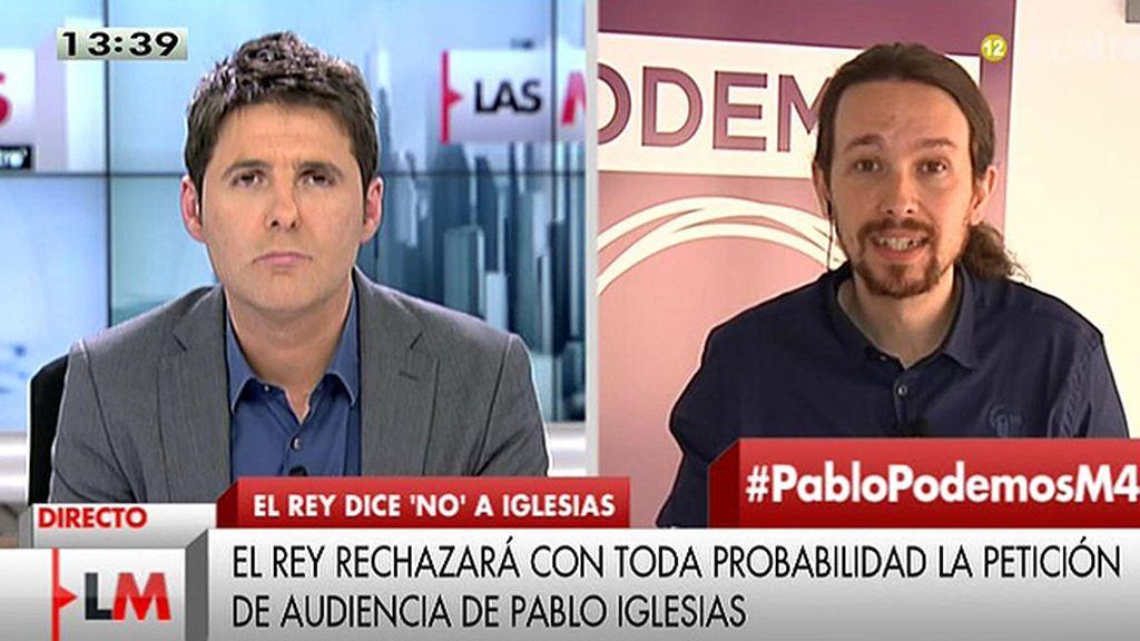 """P. Iglesias, sobre una reunión con Felipe VI: """"Para mí, será un honor tener ese encuentro"""""""