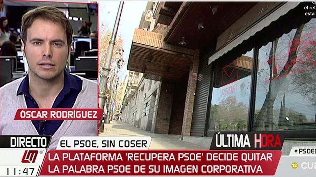 La plataforma 'Recupera PSOE' quita las siglas de su imagen