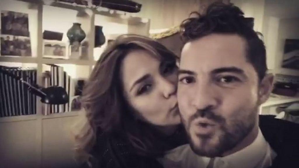 Bisbal y Rosana, juntos y enamorados recibiendo al 2017
