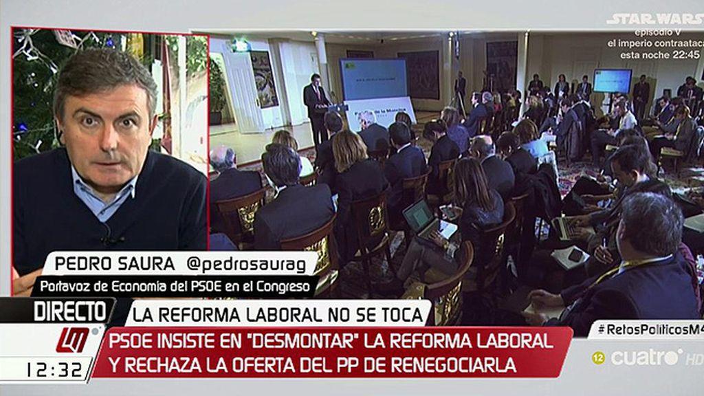 """Saura, de los presupuestos: """"Es probable que el PSOE plantee una enmienda a la totalidad"""""""