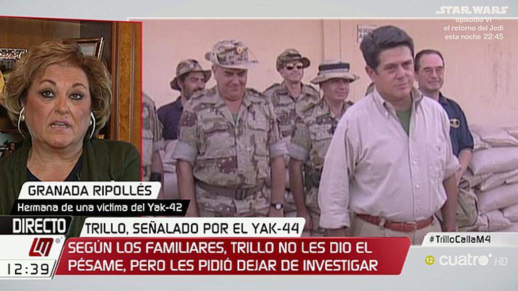 """Granada Ripollés, sobre el Yak-42: """"Nos falta la asunción de responsabilidades"""""""