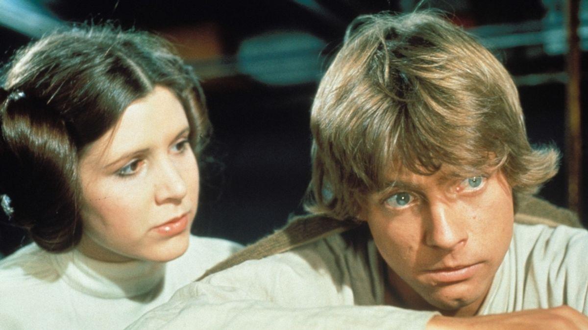 Luke Skywalker, Leia, Mark Hamill, Carrie Fisher