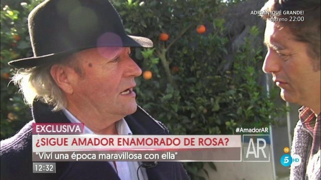 """EXCLUSIVA Amador Mohedano: """"Quisiera decirle a Rosa que siempre la querré"""""""
