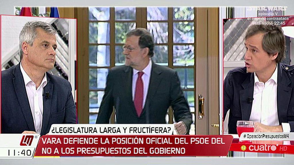 """David Lucas: """"El PSOE no va a apoyar los presupuestos"""""""