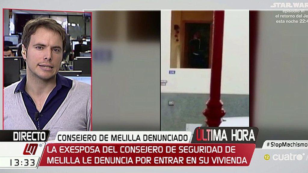 El consejero de seguridad ciudadana de Melilla, denunciado por su exmujer por irrumpir en su casa