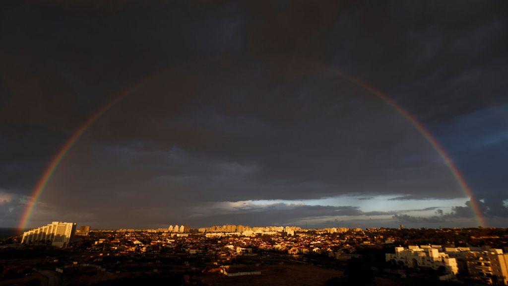 Ashkelon bajo un arcoiris