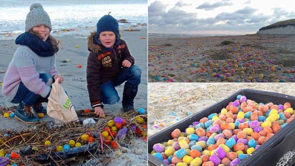Aparece una playa llena de huevos Kinder en Alemania
