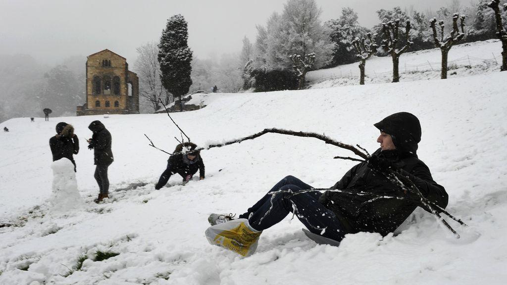 Nieve, en Oviedo
