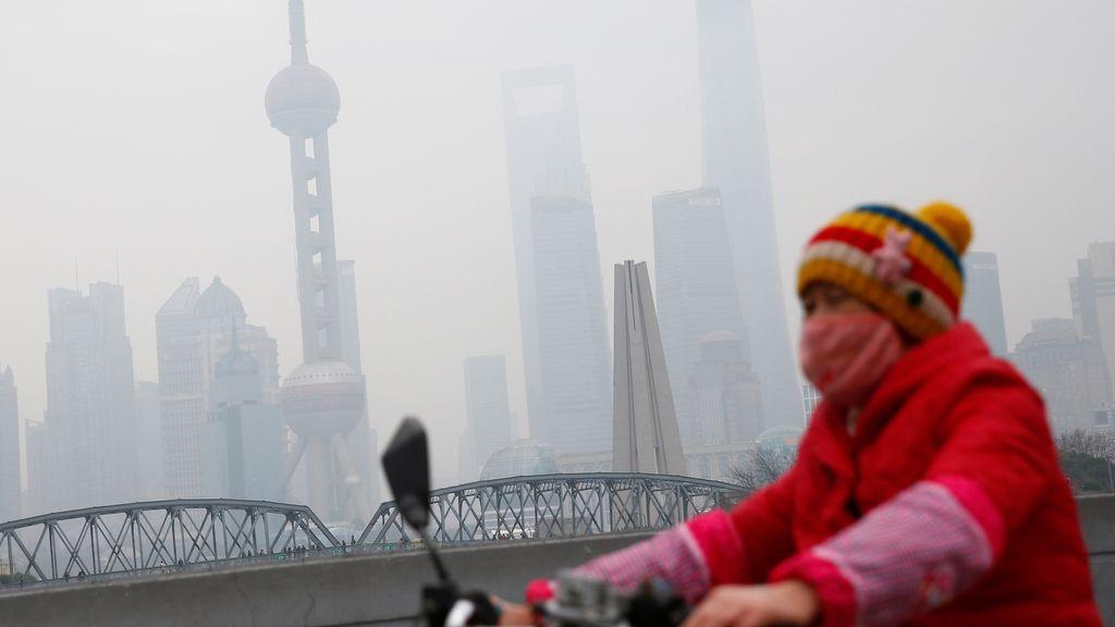Alta contaminación en Shangai