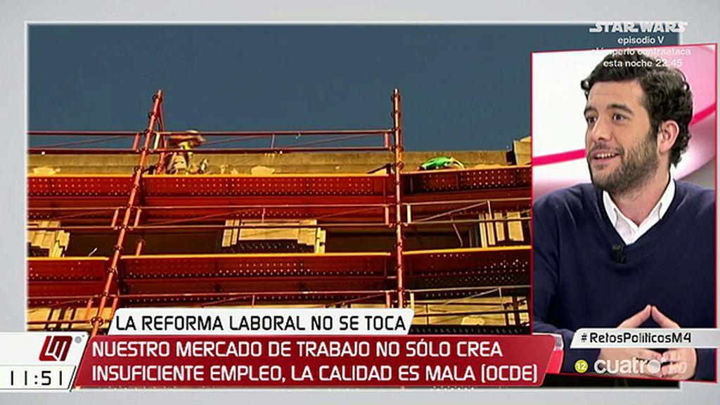 """César Zafra (C's): """"¿A qué volvemos si derogamos la reforma laboral?"""""""