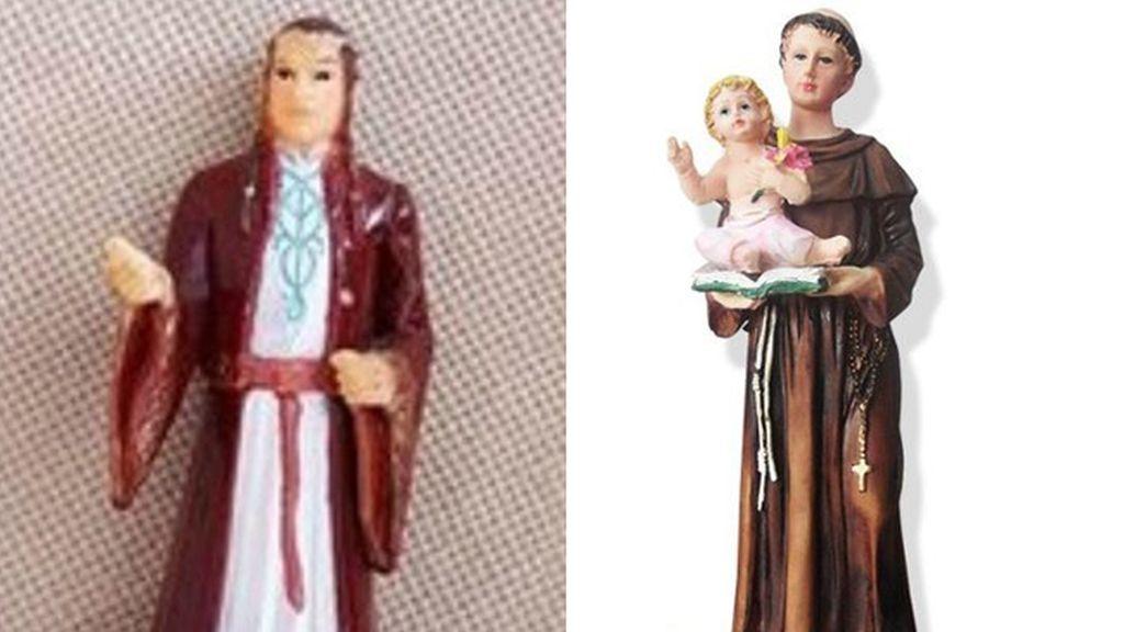 Se pasa años rezando a un santo sin saber que es la figura de un elfo de 'El Señor de los Anillos'