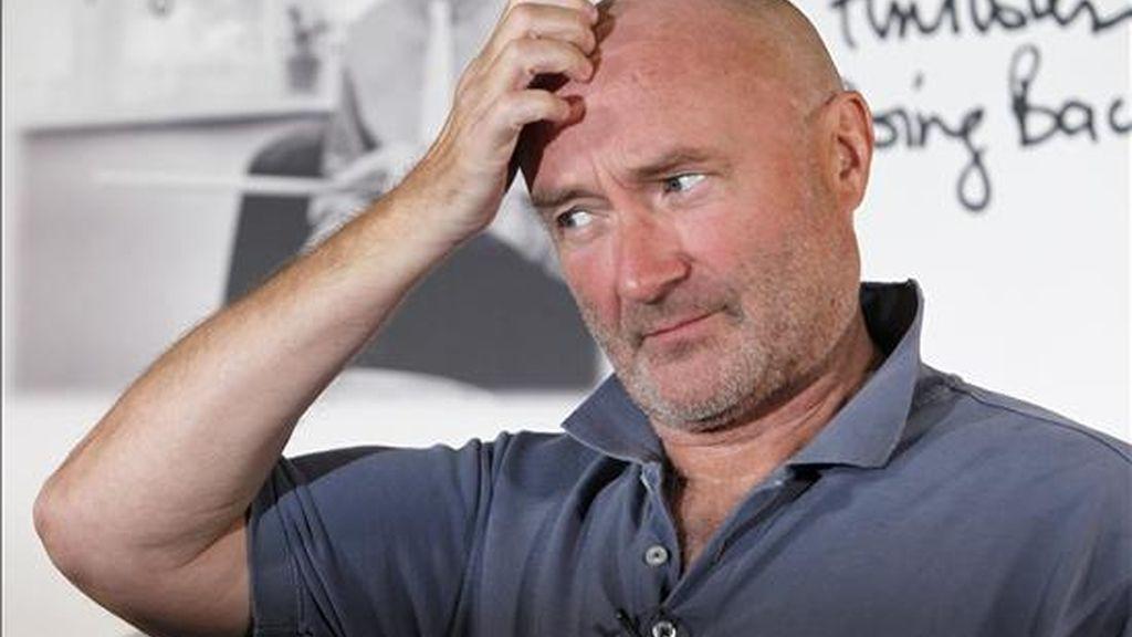 """El músico británico Phil Collins durante la rueda de prensa que ofreció este miércoles en Madrid con motivo de la presentación de su nuevo disco, """"Going Back"""". EFE"""