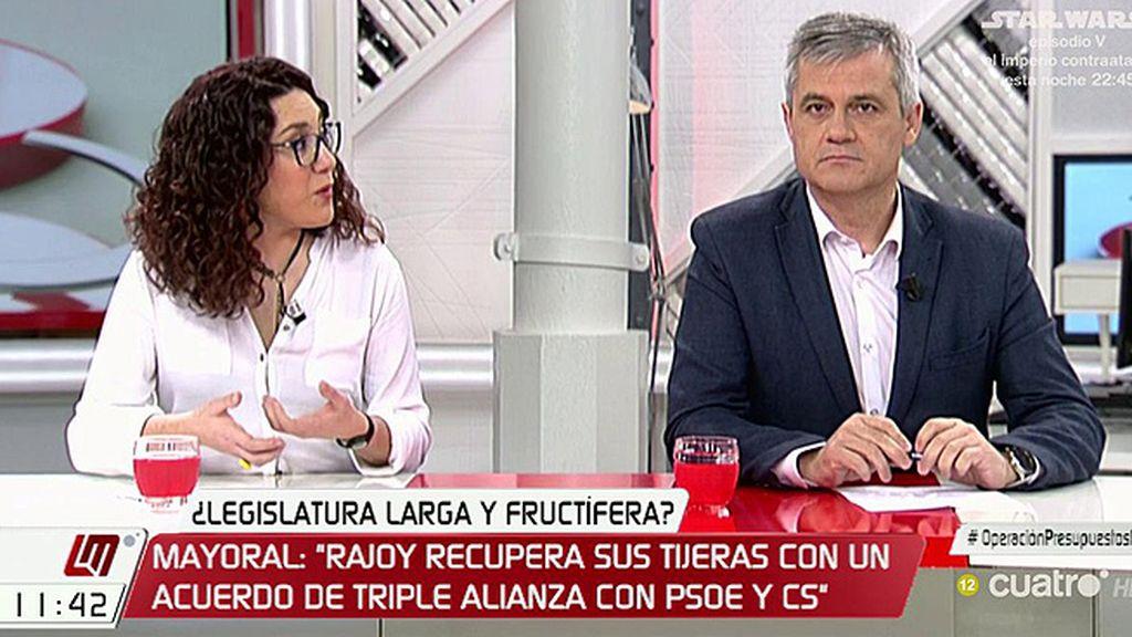 """Aina Vidal (Podemos): """"El PSOE tiene un problema de credibilidad"""""""