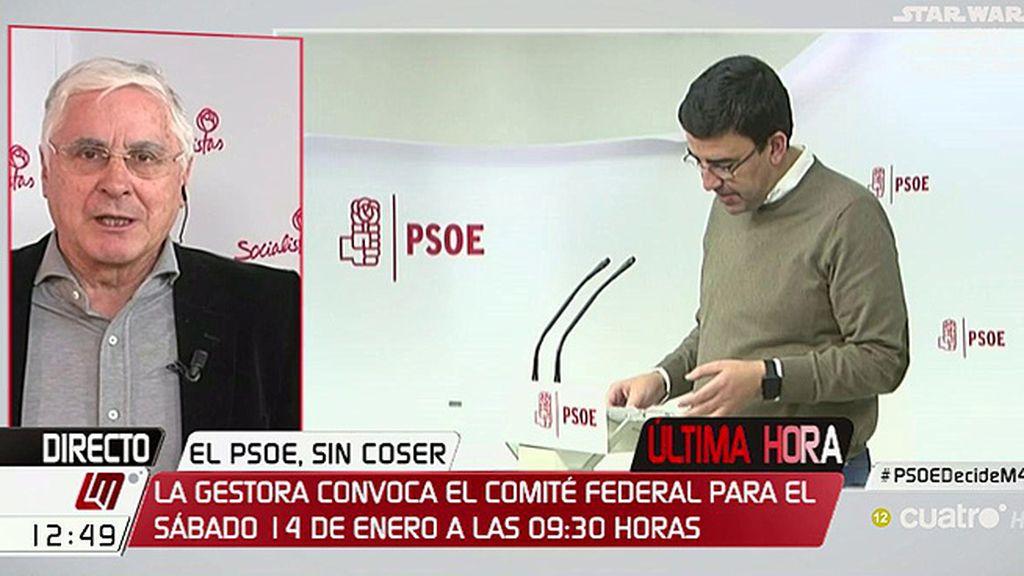 """Barreda, ante la convocatoria del Comité Federal del PSOE: """"Espero que esto tranquilice a todo el mundo"""""""