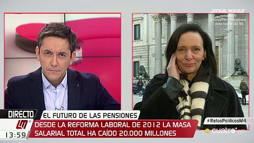 """Bescansa: """"Las pensiones son la otra cara de la precariedad laboral en España"""""""