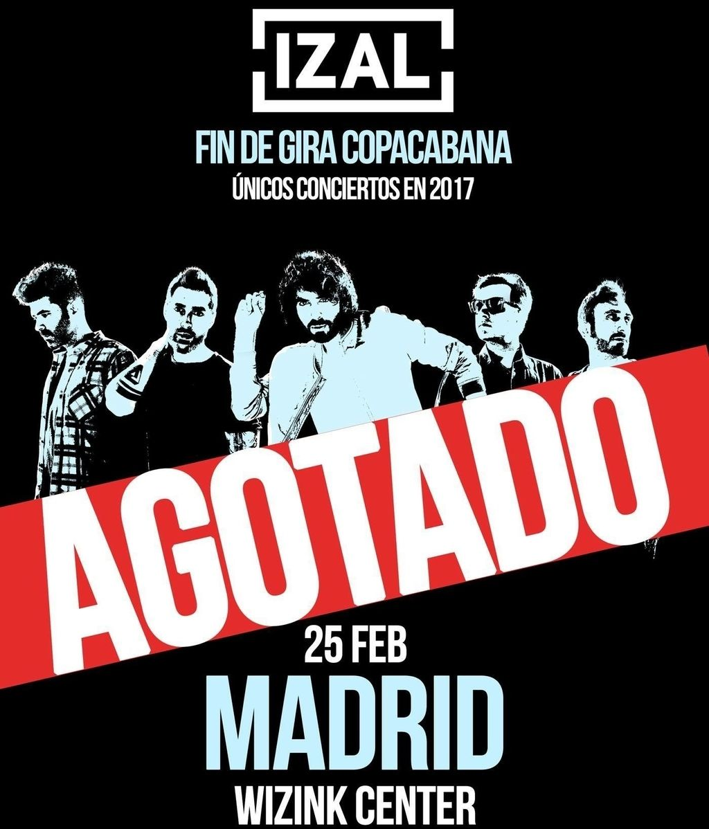 Cartel IZAL SOLD OUT Madrid